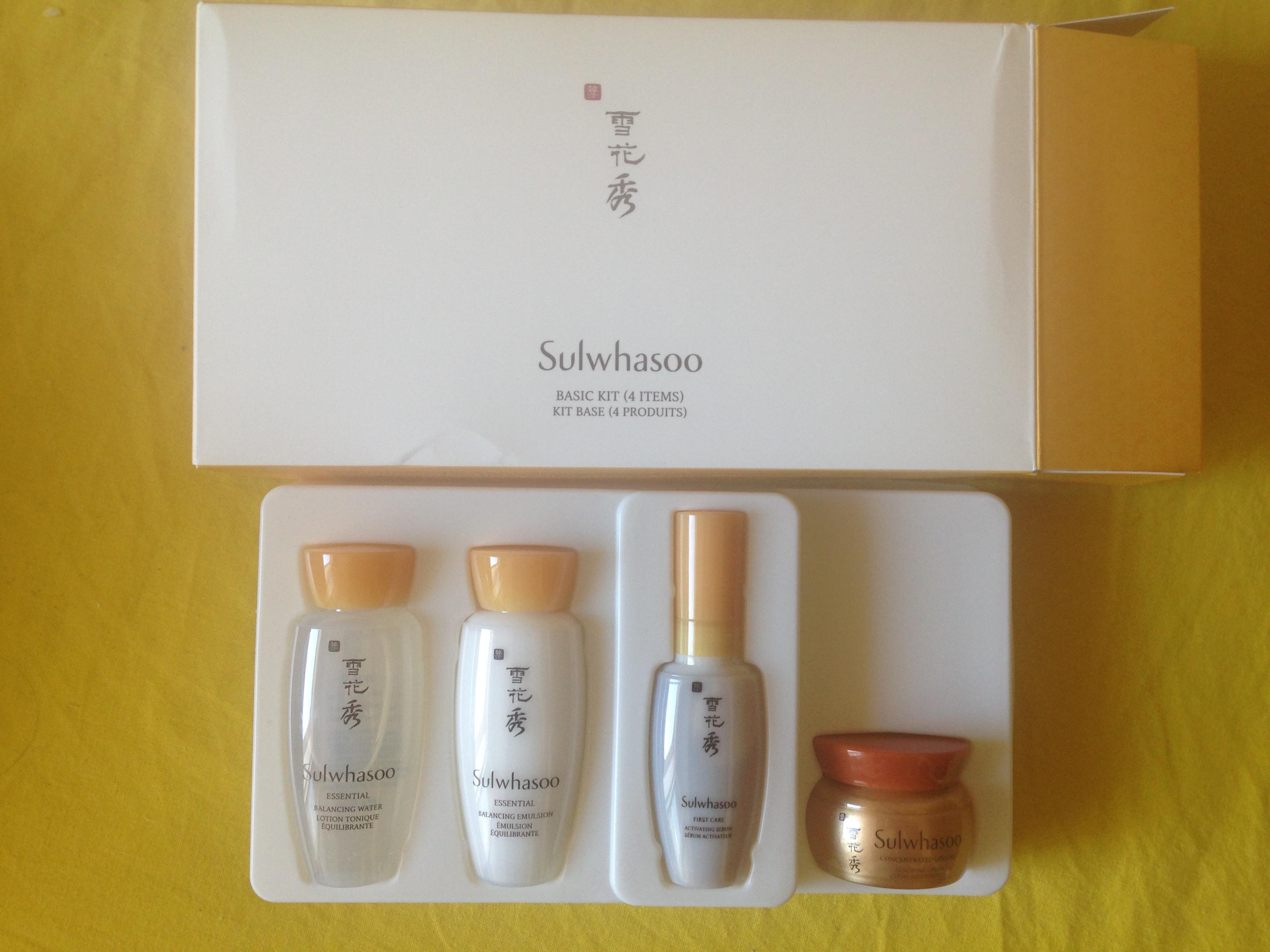 Beauty Troc Sulwhasoo Coffret voyage Kit base 4 produits