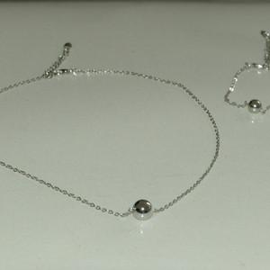 Parure collier + bracelet argenté