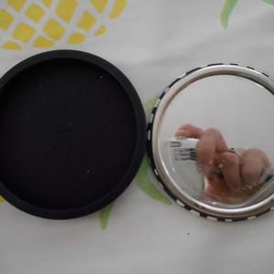 miroir de poche avec cache en silicone