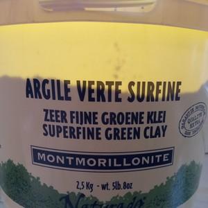 Argile verte surfine Monmorillonite, pot de 2,5kg