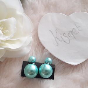 Boucles d'oreille perles turquoises