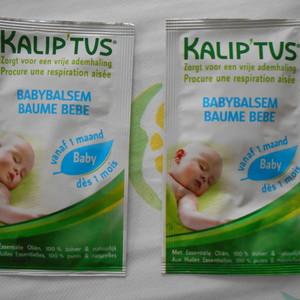 échantillons baume bébé Kalip'tus
