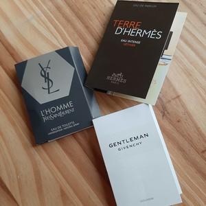 Échantillons de parfums pour homme