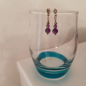 Boucles d'oreilles violette/argent