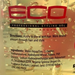 ECO STYLE Professional styling gel ALCOHOL FREE