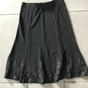 Jupe mi longue noire