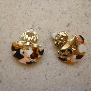 Boucles d'oreille à clips - Demi-lune