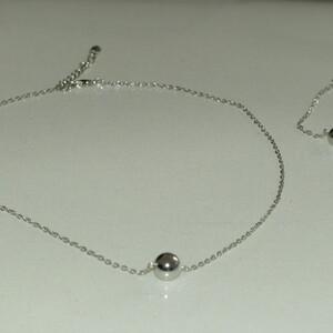 Parure collier + bracelet argenté NEUF