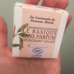 Déodorant solide sans parfum