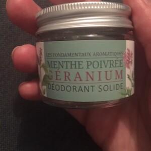 Déodorant solide menthe poivré - géranium