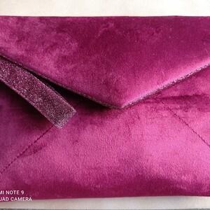 Pochette / Compagnon imitation velours bordeaux pailletté  My Little Box