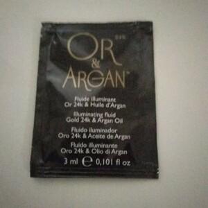 "échantillon fluide illuminant - ""Or&Argan"""