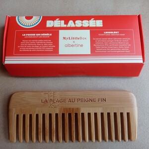 Peigne en bambou - My Little Box pour Albertine