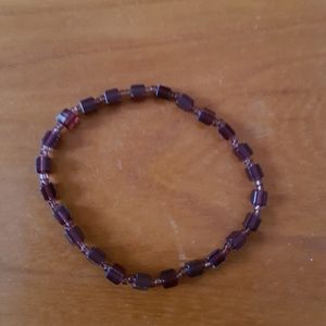 Bracelet fantaisie prune