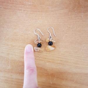 Boucles d'oreilles orange et noir