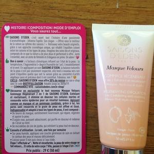 Masque velours – Gommage régénérant 2 en 1 exfoliant et nourrissant
