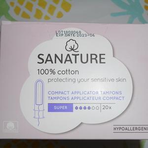 tampons applicateur compact 100% cotton Sanature
