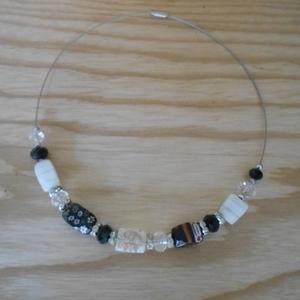 Collier perles en verre