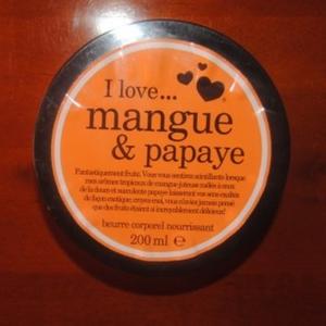 beurre corporeli love mangue & papay