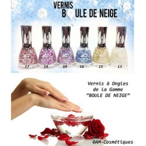 2 vernis de la collection boule de neige snow flac