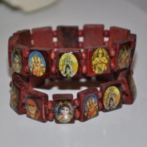 lot de 2 bracelets en bois boudha