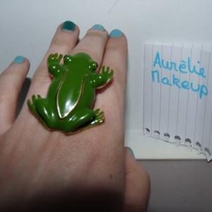bague fantaisie grenouille