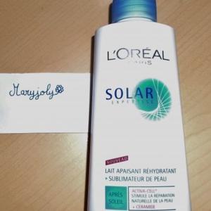 lait apaisant rehydratant  solar expertise