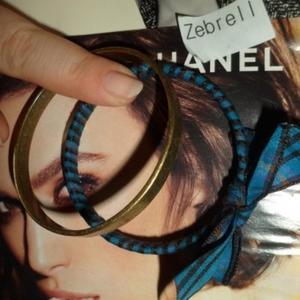 Bracelet bleu et doré