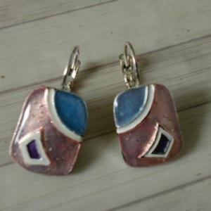 Boucles d'oreilles Bleu/rose