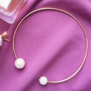 Collier doubles perles