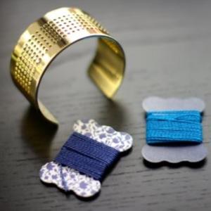 Bracelet manchette DIY