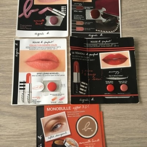 Echantillons rouges à lèvres et FAP