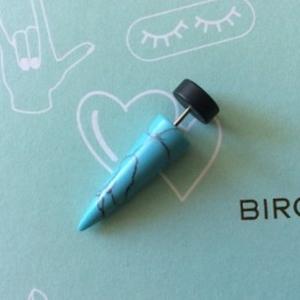 Plug noir et bleu marbré