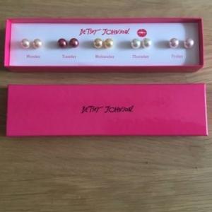 Boucles d'oreilles perles (lot)