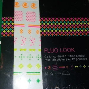 Sticker ongle fluo